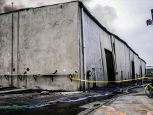 Fire damaged Factory